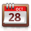 week, date, month, calendar icon