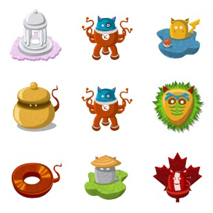 Basket Monsters icon sets preview