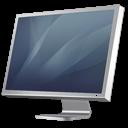 diagonal, cinema, display, graphite icon