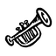 music, hand-drawn, hand drawn, trumpet icon