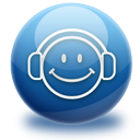 music, headphones, media, audio, listen, smile icon