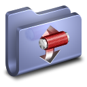 Torrents Blue Folder icon