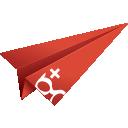 google, googleplus, paper plane, google plus, social media, + google plus, google+, origami icon