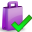 accept, shoppingbag icon