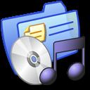 music, folder, blue icon