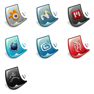 3D Software icon sets preview