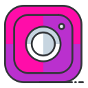online, media, internet, network, social, communication, instagram icon