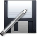 floppy, save, write, save as, pen, disk icon
