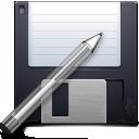 floppy, save, write, save as, pen, disk icon