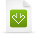 document, file, paper, green icon