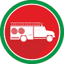 burn, logistics, truck, fire, flame icon