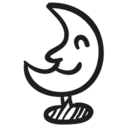 Moon space toy icon
