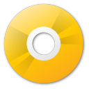 save, yellow, cd, disc, disk icon