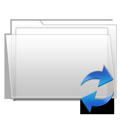 sync, folder icon