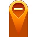 pin, remove, location icon