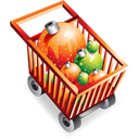christmas, shoppingcart, full, e commerce icon