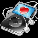 ipod video black favorite icon