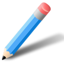 azul, lapiz icon
