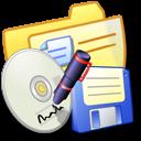 Folder Yellow Backups icon