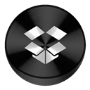Black, Drive, Dropbox icon