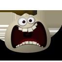 scared,emot,face icon