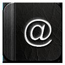Black, Contact icon