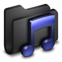 Music Black Folder icon