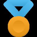 gold metal blue icon