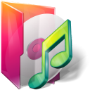 Aurora, Folders, texto, Music icon