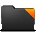 orange, corner, ribbon icon
