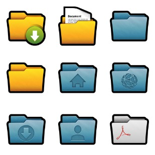 Folders icon sets preview