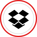 media, social, logo, brand, dropbox icon