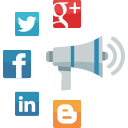 seo, communication, internet marketing, web, megaphone, advertising, news, social media, online marketing icon