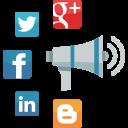 seo, communication, internet marketing, web, megaphone, advertising, news, social media, online marketing icon