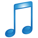 music, blue, itunes, sound icon