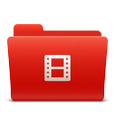 folder, new, video, red, soda icon
