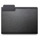 leather,folder,black icon