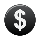 money, black, currency, coin, cash, dollar icon