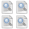 magnifying glass, search, zoom, find icon