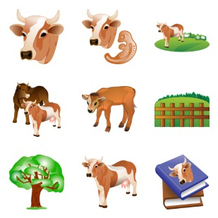 Agriculture icon sets preview