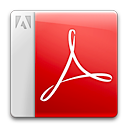 adobe, pdf, acrobat reader icon
