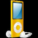 iPod Nano yellow on icon