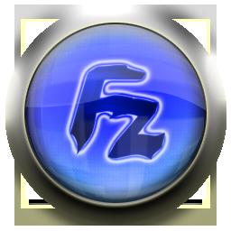 blue, filezilla icon