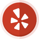 yelp, location, yelp logo, social media icon