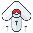 play, go, pokemon, arrow, game icon