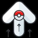 play, go, pokemon, arrow, game icon