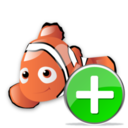 add,fish,animal icon