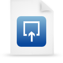 file, document, paper, blue icon