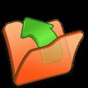 folder orange parent icon