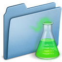 experiment, blue icon